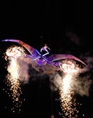 explosive performance, spectacle performance, circus, dance, theatre, aerial arts, fire, pyrotechnics